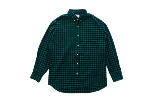 Flannel Gingham Shirts (Green)