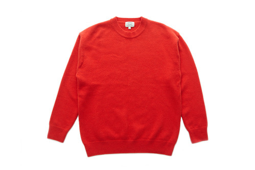 Crew Neck Wool Knit (Orange)