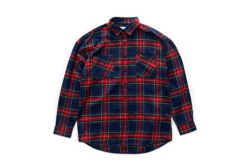 Flannel Check Shirts (Navy)