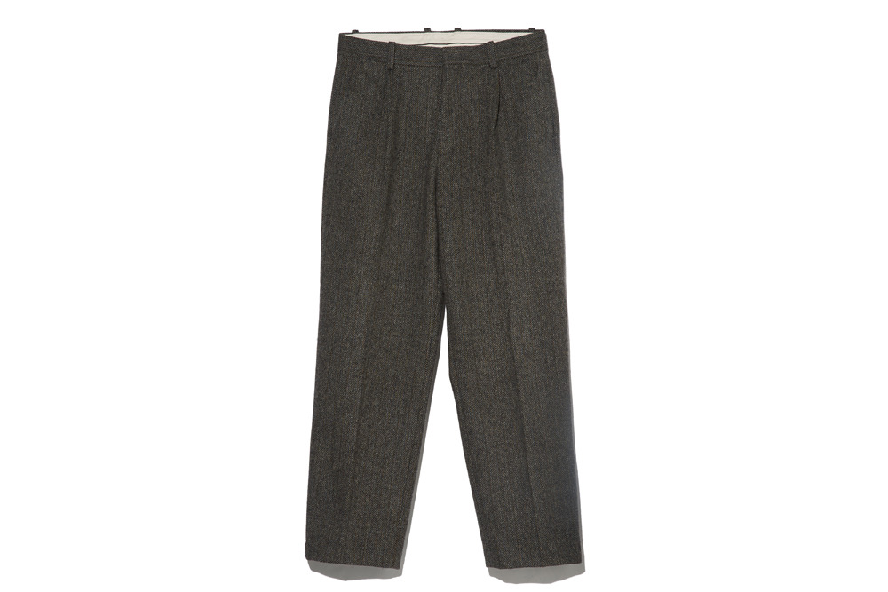 Wool Herringbone Pants(Grey)