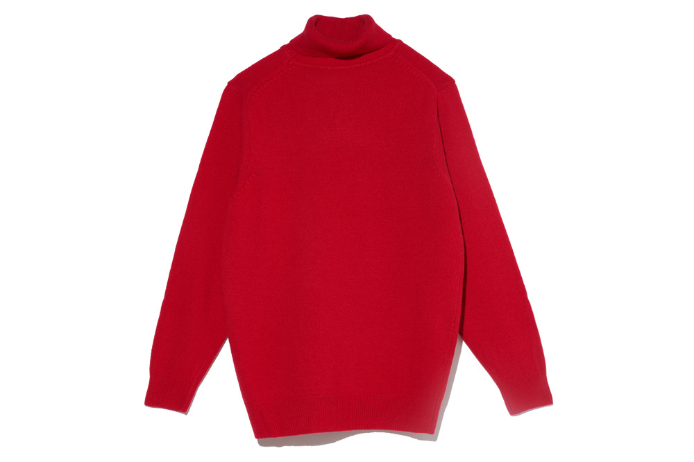 Cashmere Blended Turtle Neck(Red)