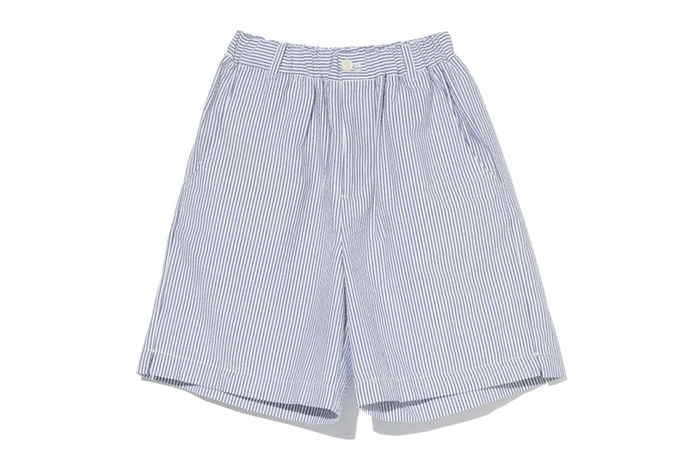 Seersucker Stripe Easy Shorts(Navy)