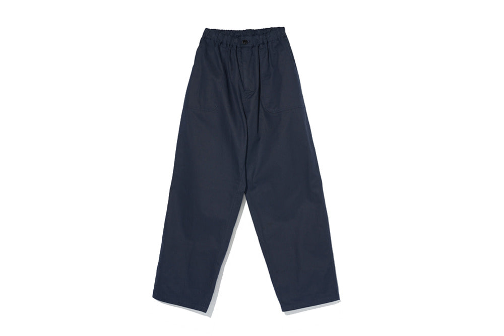 Cotton Easy Pants(Navy)