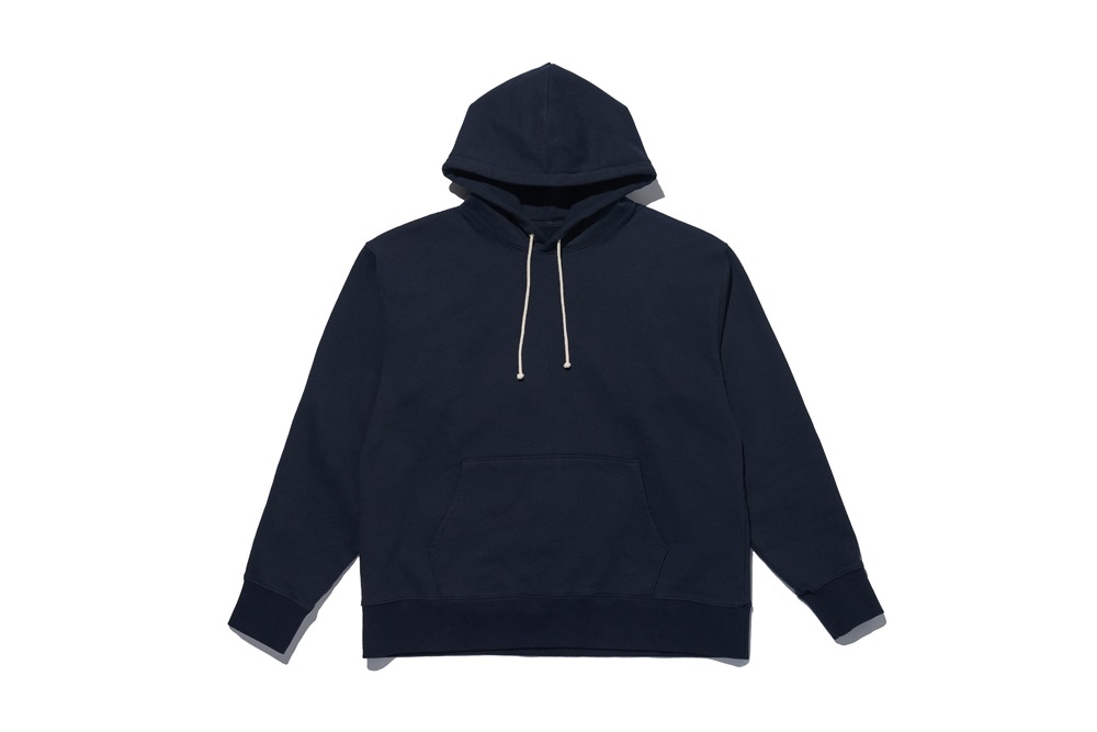 Cotton Pullover Hoodie(Navy)