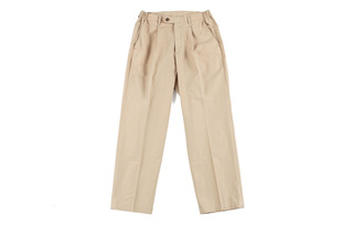 Easy One Tuck Pants (Beige)