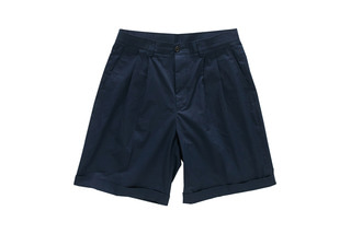 Wide Turn Up Shorts (Navy)