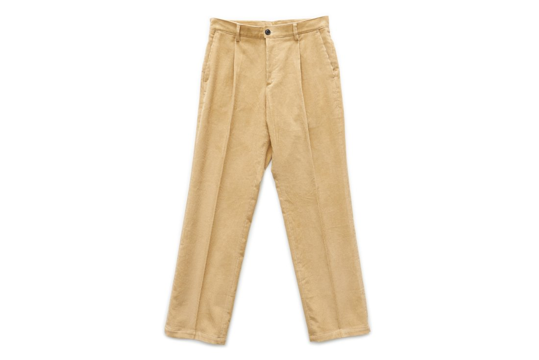 Corduroy Regular Pants (Beige)