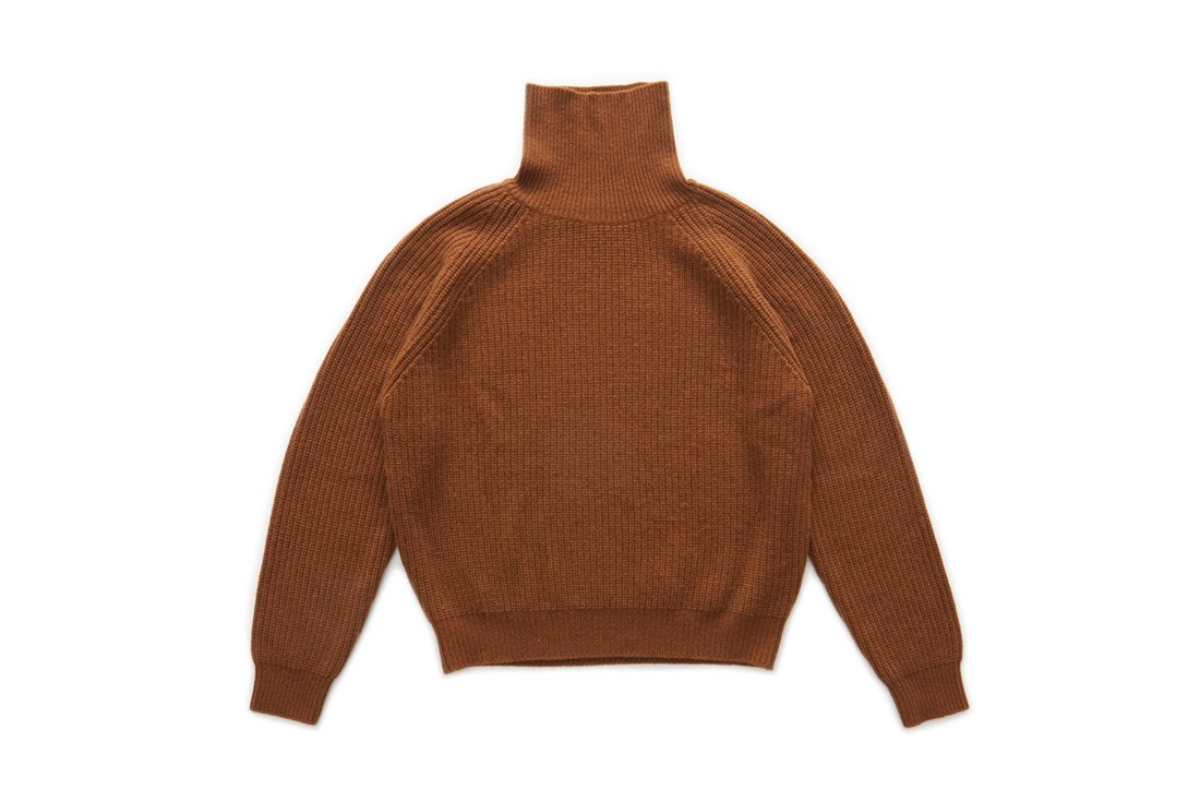 Wool Turtle Neck Knit (Chestnut)