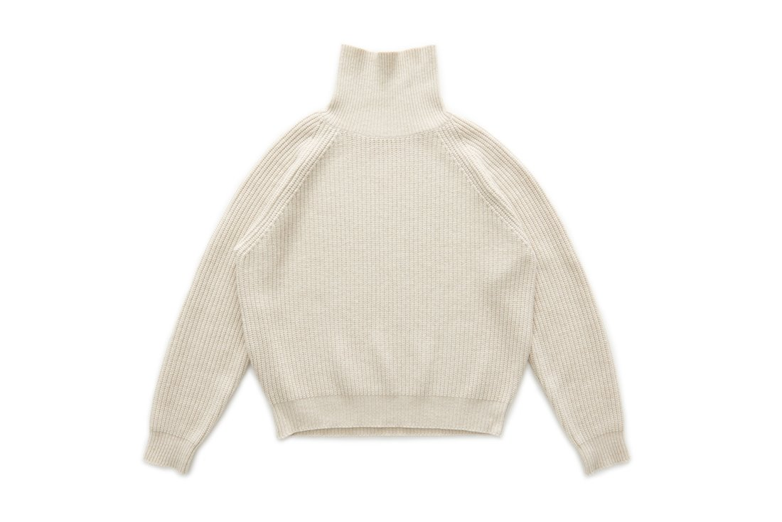 Wool Turtle Neck Knit (Oatmeal)