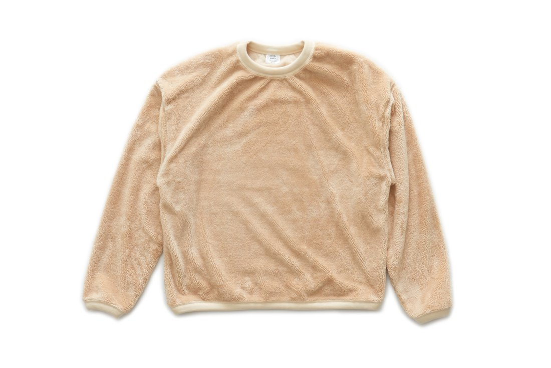 Boa Fleece Sweat Shirts (Beige)