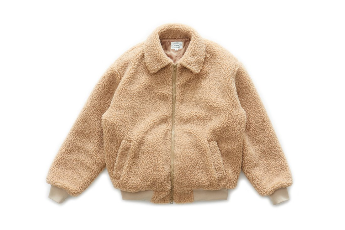 Boa Fleece Harrington Jacket (Camel)