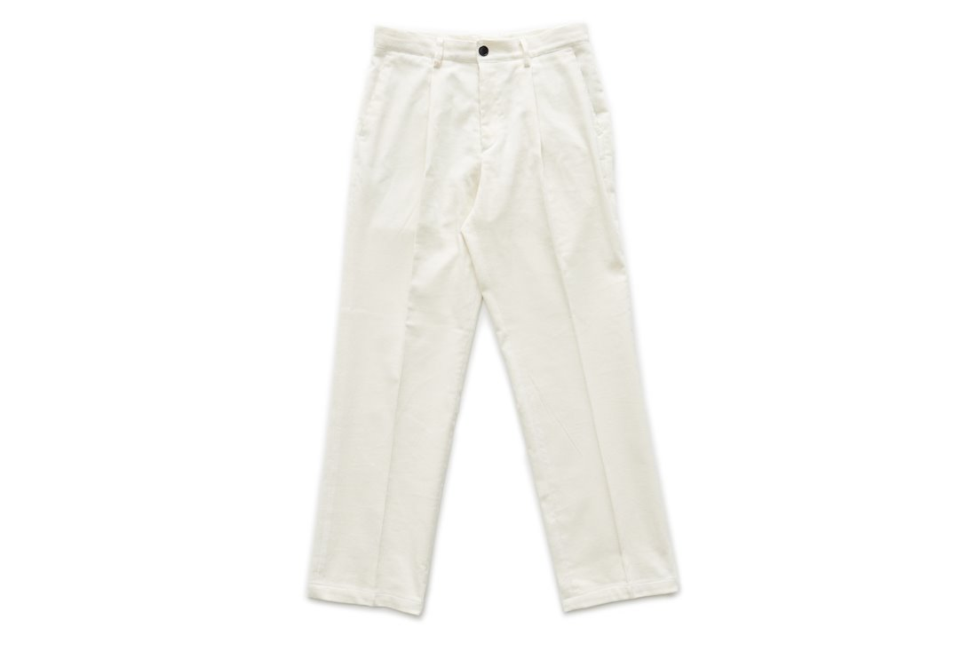 Corduroy Regular Pants (White)