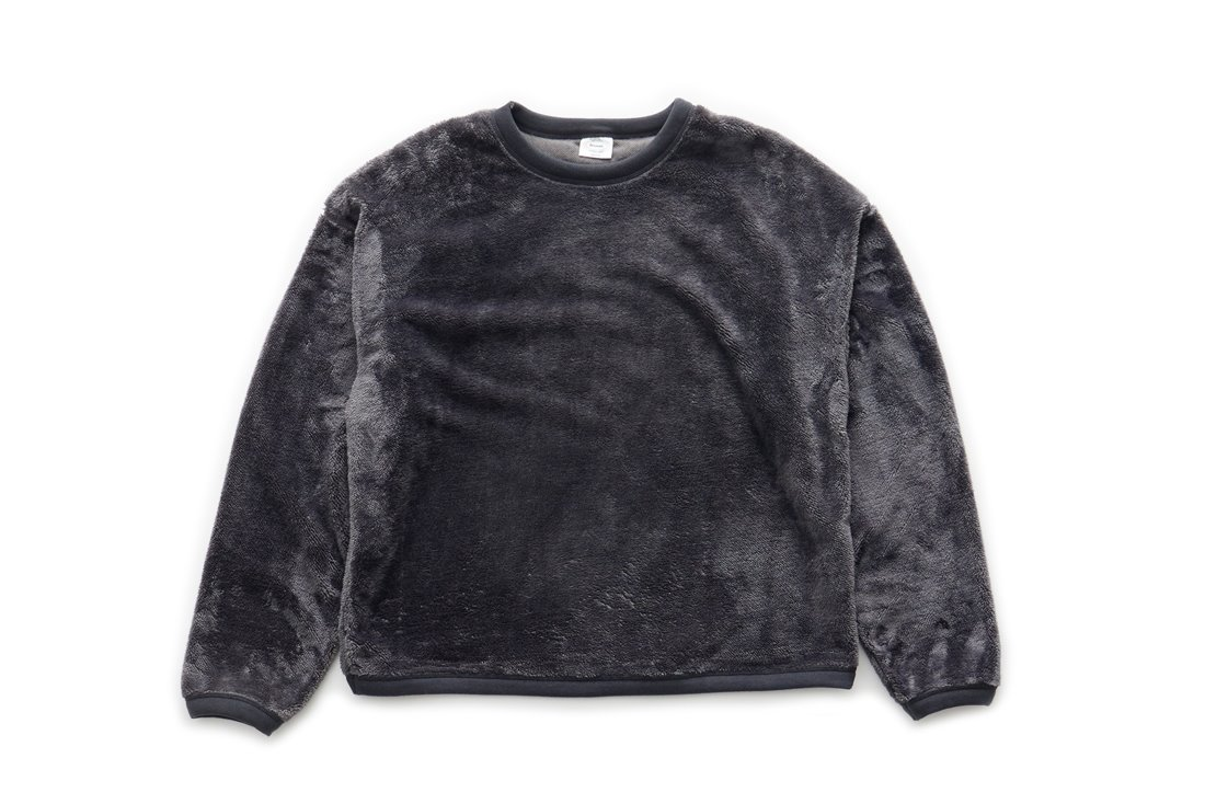 Boa Fleece Sweat Shirts (Charcoal)