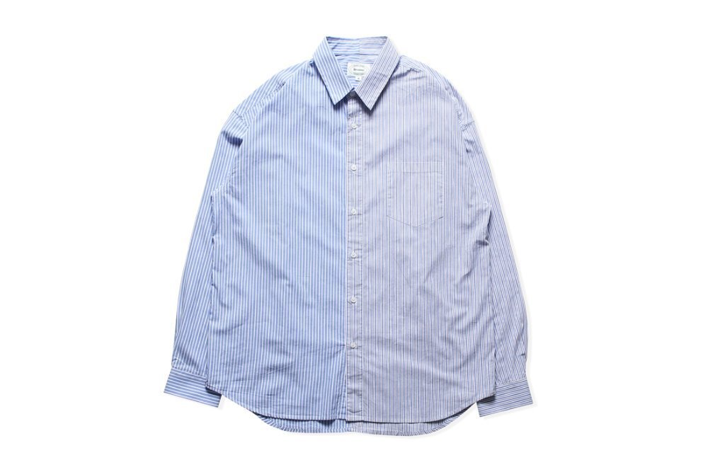 Mixed Stripe Shirts (Blue)