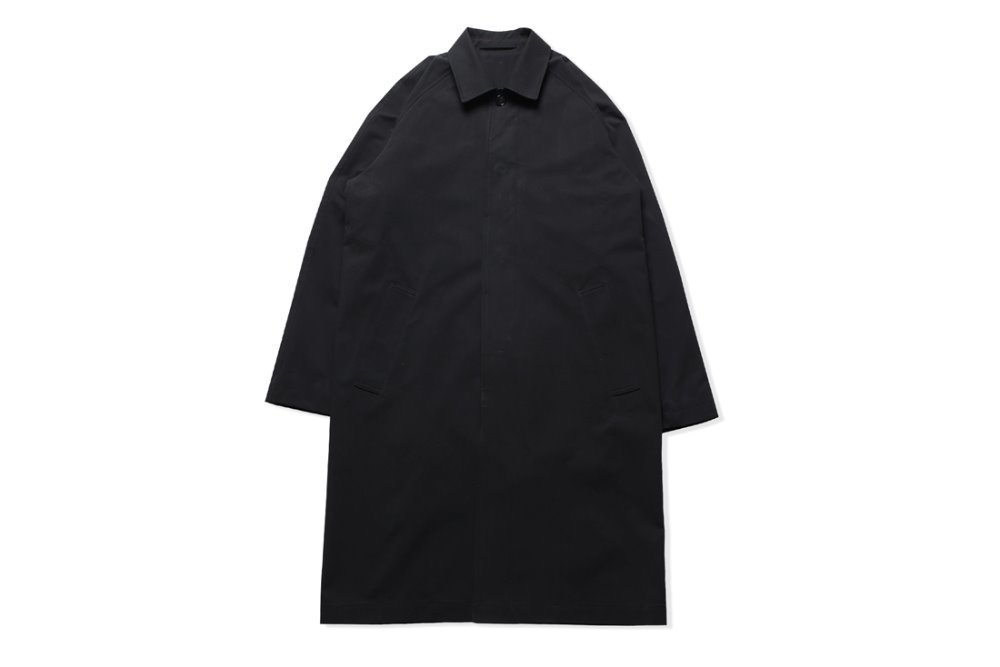 Stand Collar Mac Coat (Black)