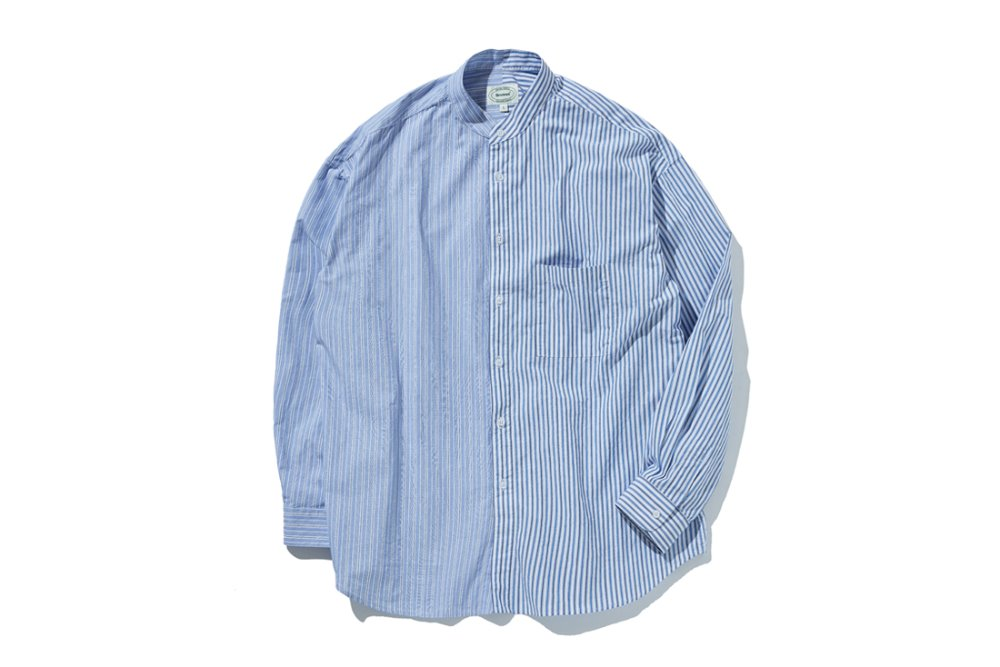 Henley Neck Mixed ST Shirts (Blue)
