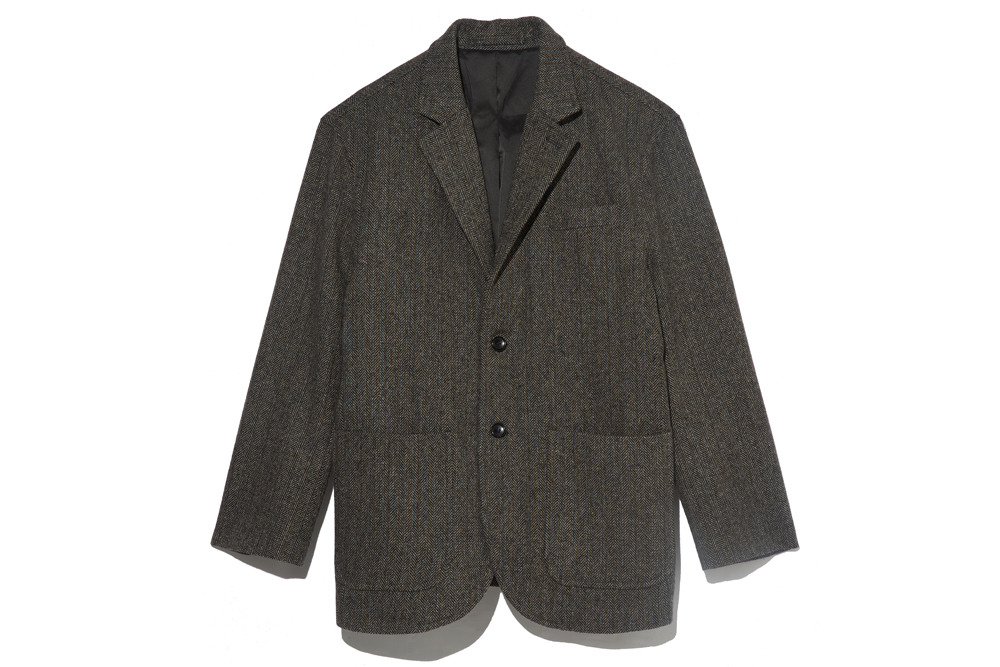Wool Herringbone Jacket(Grey)