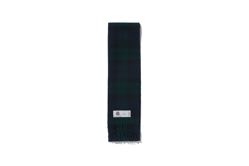 Merino Wool Muffler(Black Watch)