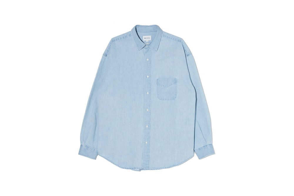 Light Denim Shirt (Faded Blue)