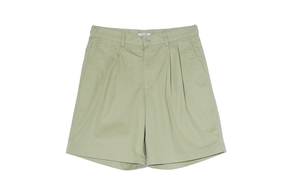 Wide Chino Shorts (Olive)