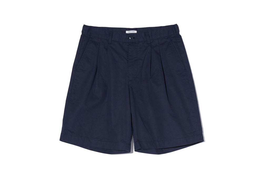 Wide Chino Shorts (Navy)